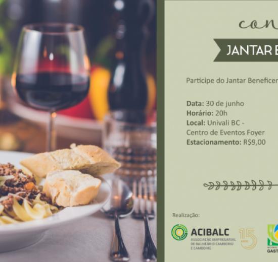 Acibalc apoia jantar beneficente em prol da ONG Vila Social