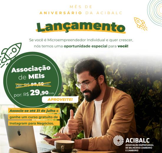Acibalc lança campanha de adesão para Microempreendedores Individuais no mês aniversário da entidade