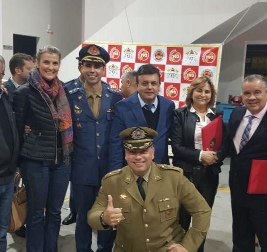 Acibalc prestigia solenidade em comemoração ao Dia Nacional do Bombeiro promovido pelo 13º BM de Balneário