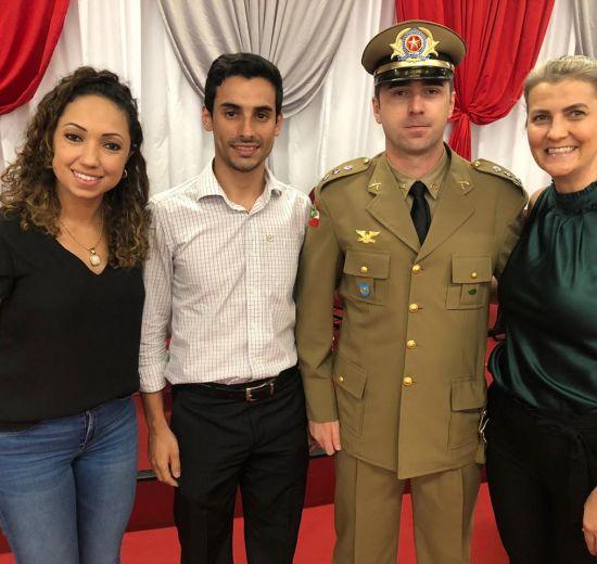 Acibalc prestigia troca de comando da PM de Camboriú