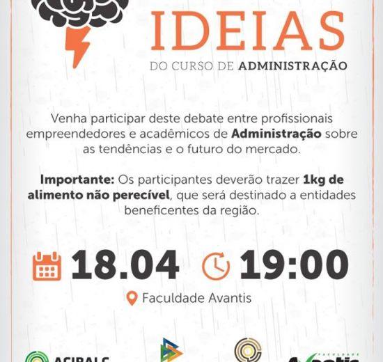 """Acibalc promove 2ª edição do """"Toró de Ideias"""" na próxima quarta-feira, 18"""