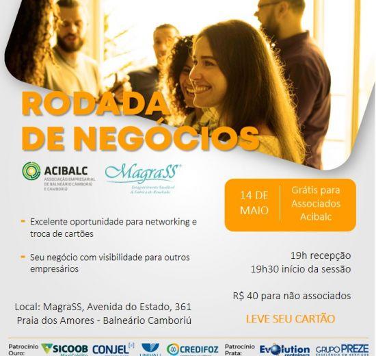 Acibalc promove Rodada de Negócios com empresários em Balneário Camboriú