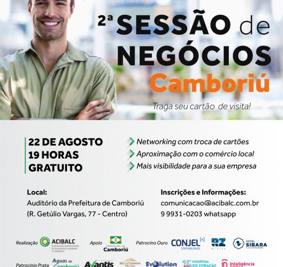 Acibalc promove Sessão de Negócios com empresários de Camboriú na próxima quarta