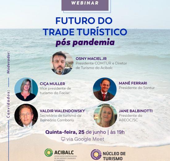 Acibalc promove webinar para discutir o futuro do trade turístico pós pandemia do coronavírus