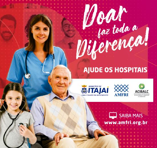 Campanha em prol dos hospitais de Itajaí