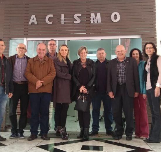 Comitiva da Facisc visita a ACISMO