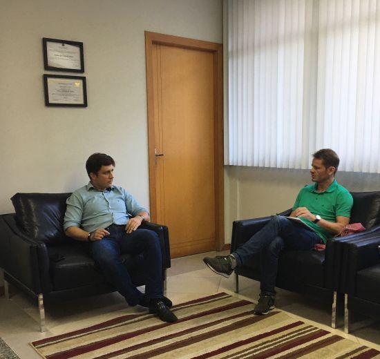 Desenvolvimento: em reunião com o prefeito de Balneário, membros da Acibalc discutem políticas públicas