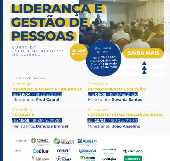 Escola de Negócios da Acibalc promove curso com tema Liderança e Gestão de Pessoas