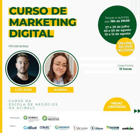 Escola de Negócios da Acibalc promove curso de marketing digital para empreendedores