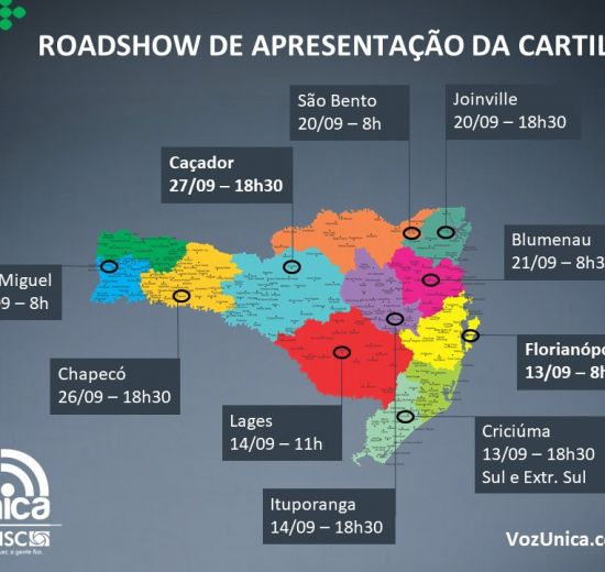 Facisc fará roadshow para entrega de cartilha Voz Única a candidatos no Estado