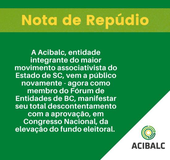 Fórum das Entidades de BC encaminha a Fórum Parlamentar Catarinense ofício repudiando o aumento do fundo eleitoral