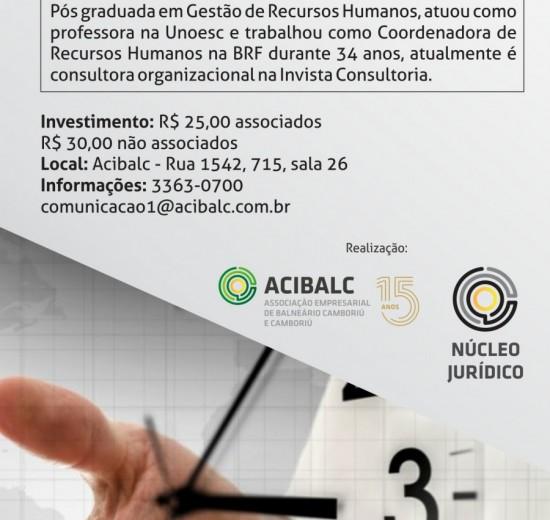 Gerenciamento de Tempo será tema de palestra na Acibalc