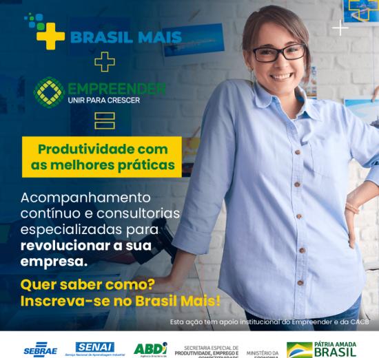 Inscrições abertas para o Brasil Mais, novo programa do Governo Federal