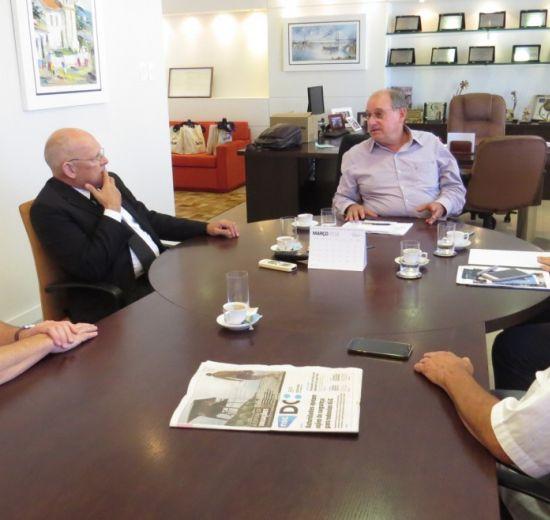 Jonny Zulauf faz visita institucional à Fecomércio