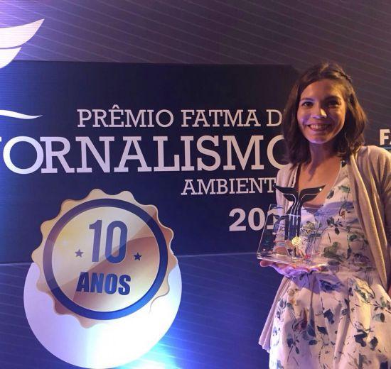Jornalista responsável pela produção da Revista da Acibalc leva Prêmio Fatma de Jornalismo