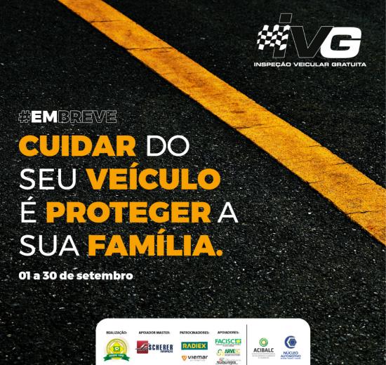 Núcleo Automotivo da Acibalc promove Inspeção Veicular Gratuita durante todo o mês de setembro