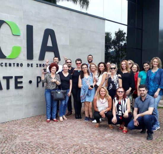 Núcleos da Acibalc visitam a ACATE em Florianópolis