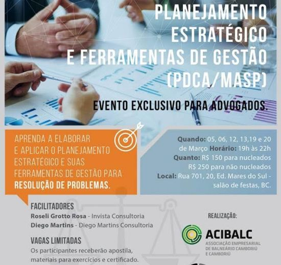 Núcleo Jurídico da Acibalc promove capacitação exclusiva para advogados
