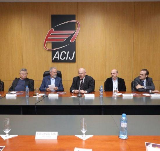 O Presidente da Facisc fala em Joinville sobre o trabalho da Federação junto às ACIs