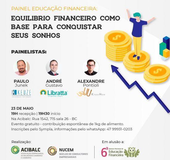 Painel sobre equilíbrio financeiro acontece na próxima quinta-feira em Balneário Camboriú