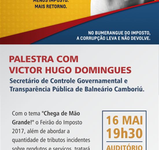 Palestra sobre gestão de recursos públicos marca Feirão do Imposto em Balneário Camboriú
