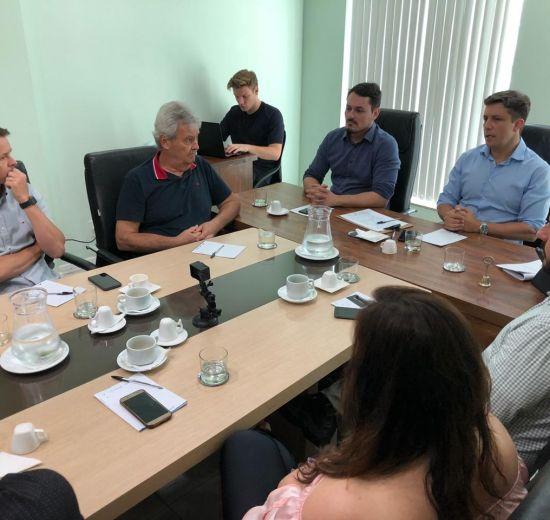 Presidente da Acibalc participa de reunião do Fórum das entidades com a presença do prefeito de Balneário