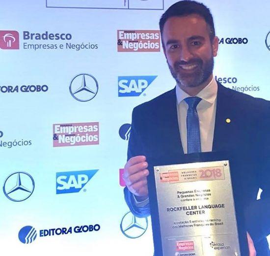 Rockfeller Brasil Franchising ganha prêmio de Melhor Franquia 2018
