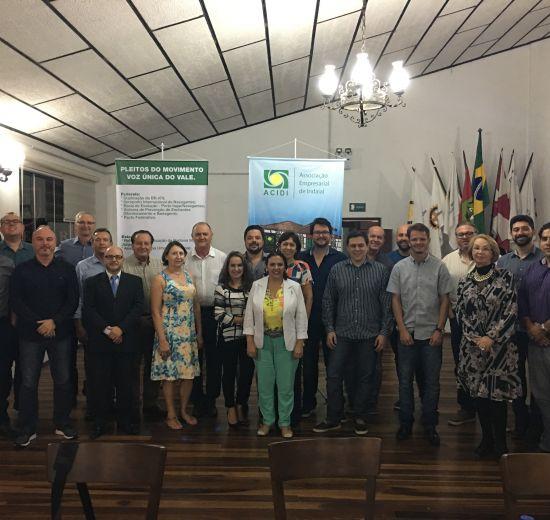 Vale do Itajaí recebe reunião plenária da Facisc
